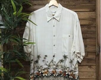 Camisa Hawaiana Hawaiian Shirt Pierre Cardin 90s Mahalo Vintage Store