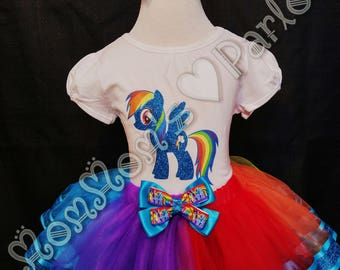 RainbowDash tutu, My little pony tutu, rainbow tutu, birthday tutu, rainbow dash birthday, my little pony birthday theme, rainbow birthday