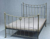 Bed Antique Bed Victorian Brass Bed Double Bed With Original Base