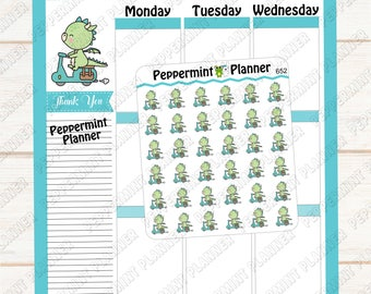 JJ running errands --- planner Stickers --- 652