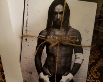 Iggy Pop note cards-set of 2