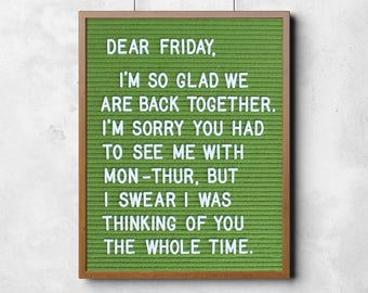 Funny Poster: Dear Friday