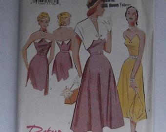 Retro Butterick ' 52 6633 Pattern size 12-14-16