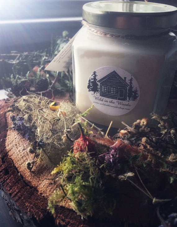 Rosemary by your garden gate and Lavender for luck - 100% Soy wax and essential oil candle - 9oz glass jar