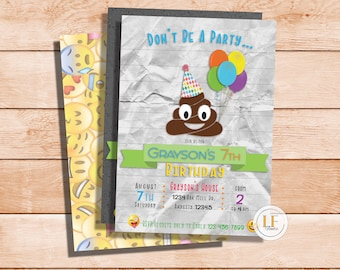 Party Pooper Invitation