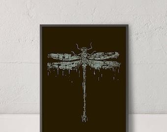 Dragonfly Wall Art, Dragonfly Print, Large Wall Art, Abstract Art, Digital Download, Printable Poster, Animal Art, Abstract Poster, Art