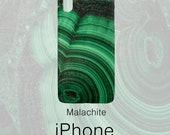 Malachite Gemstone Pattern Phone Case, Mineral Rock Print, Rockhound gift, iPhone X, 7/8 P, 7/8, 6/6s P, 6/6s, Galaxy S7, S7 Edge, S8