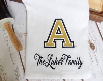 USMA Flour Sack Kitchen Tea Towel Personalized Ring Spun Cotton 28 x 28 West Point Tea Towel USMA Tea Towel Classic Army A Tea Towel