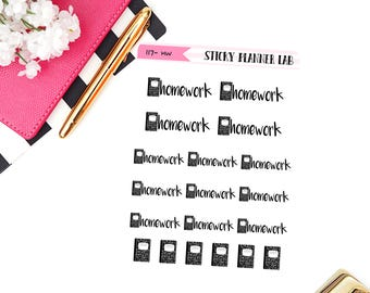Homework // Planner Stickers