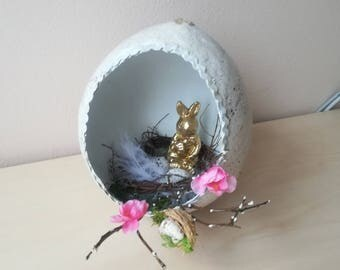 Bunny Easter Table Decoration, Egg Easter Décor, Easter Décor, Easter Egg, Giant Easter Egg Décor, Golden Easter Egg, Golden Easter Décor