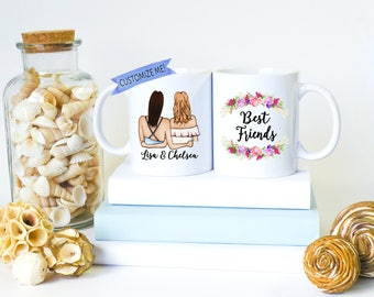 Best Friend Mugs | Best Friend Gifts | Bestfriend Gifts | Gift for Friend | You're my Person | For Best Friend | Soul Sisters