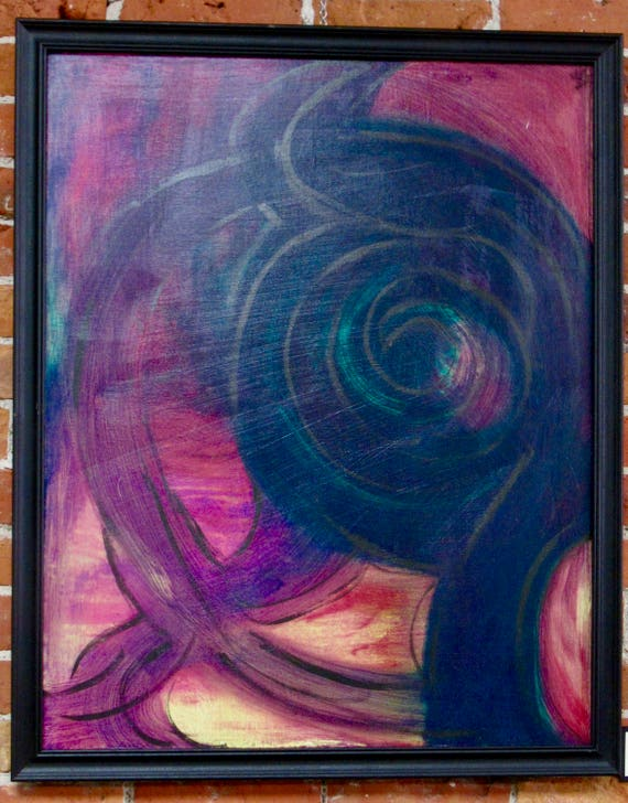 "Framed Abstract Painting ""Imagination Wild"""