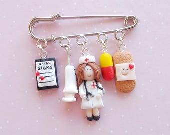 Nurse Badge - Nursing Pin Graduation Gift - Gift for Doctor - Nurse Appreciation - Medical Student Gift - Nursing Student Gift