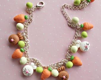 Easter Bracelet - Bunny Bracelet - Easter Basket Stuffers - Cute Bracelet - Easter Gift Bracelet - Rabbit Bracelet - Easter Basket