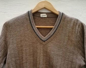 Vintage JUMPER//vintage clothing/gift for women/brown/XS/small size/90s/80s/70s/vintage women/Knitwear/Vintage Knit