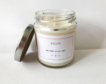 Bacon - Hand poured soy wax candle