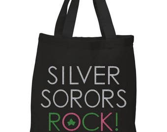AKA Tote Bag | Silver Sorors Rock | Alpha Kappa Alpha Sorority