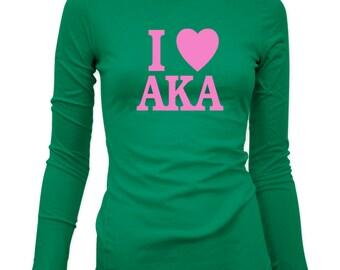 Alpha Kappa Alpha I Love AKA Long Sleeve