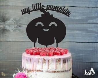 Custom halloween Cake Topper, My little pumpkin cake topper, happy pumpkin party, halloween night, fun halloween party, halloween kids party