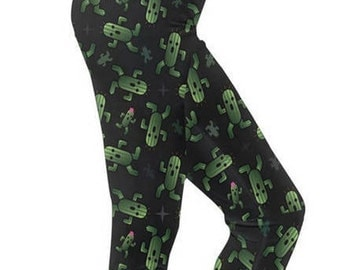 Cactuar Leggings - Final Fantasy VI Leggings Cosplay Leggings Comicon Leggings Videogame Leggings Bikanel Island leggings