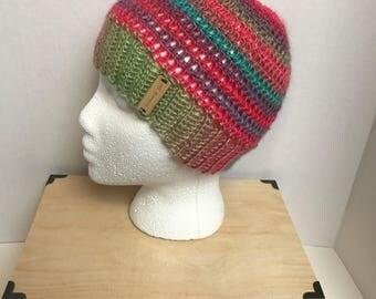 SALE Messy bun hat- ready to ship- messy bun beanie- ponytail hat-bun hat