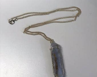Silver & Chalcedony Necklace