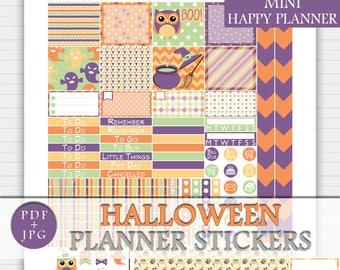 MINI Happy Planner Halloween Weekly Kit, Halloween MINI Happy Planner Sticker Kit, Printable October Happy Planner MINI Sticker Mambi Kit