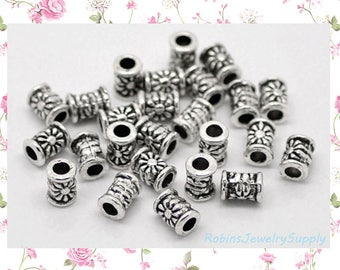 20pcs - Antique Silver - Spacer Beads - Flower Beads - Antique Silver Beads - Jewelry Beads - Bead Spacers - Jewelry Spacers - F0098