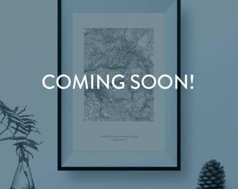 Mount Baker: Custom Topographic Print