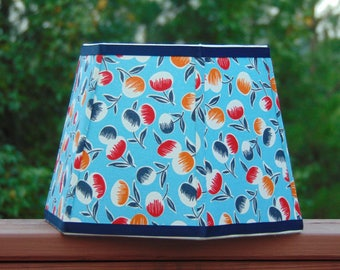 Handmade Floral Lampshade - 6 Sided With Clip Top