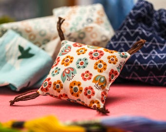 "Organic Cotton Cat Nip Pillow Toy- ""Flower Fields"""