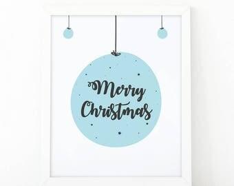Merry christmas, Winter holiday, Festive wall art, Christmas print, Christmas poster, christmas printable, christmas decoration, digital art