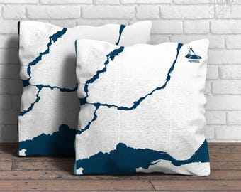 Montreal Square Pillow | Coasting
