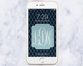 Monogram Wallpaper, iPhone Wallpaper, phone background, Mobile Phone Wallpaper