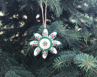 Heineken beer cap ornament