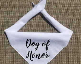 Dog of Honor Bandana, Wedding Dog Bandana, Wedding Save the Date, Dog Engagement Photos, My Humans Are Getting Married Dog Bandana, Best Dog