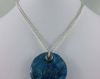 Necklace: Glittering in Blue