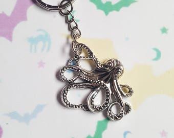 Cthulhu keyring, Octopus keyring, Kraken keyring, Squid keyring, Cthulhu, Octopus, Kraken, Alternative, Horror, Fantasy