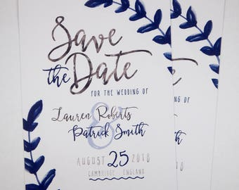 Save the Date Leaves Design Printable