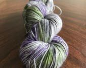 Hand Dyed Yarn, Outlander Inspired, Indie Dyed Sock Yarn, Fingering Weight - Thistle on Simple Sock