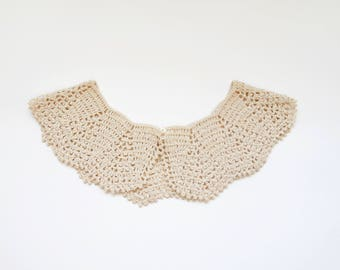 Vintage Collar Crochet Lace Collar Crocheted Collar