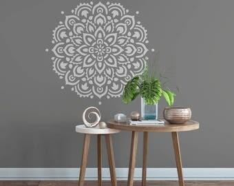Mandala Stencil For Walls And DIY Crafts   Reusable Wall Stencils Of A  Mandala   Large