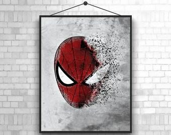 Spiderman Poster Spiderman Art Spiderman Print Nursery Wall Art Kids Bedroom Decor Home Spiderman Decor Boys Nursery Art Girls Nursery Art