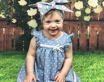 Matching Headbands- Flower Headband; Flower Headwrap; Flower Bow; Mommy and Me Headbands; Baby Headband; Toddler Headband; Girls Headbands