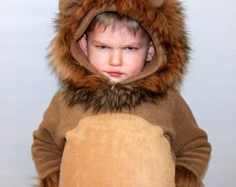 Lion costume/Lion onesie/Kids Costume/Lion dress up/ handmade costume/Halloween costume