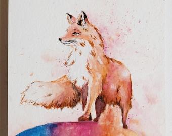 Fox - Original Watercolor Painting