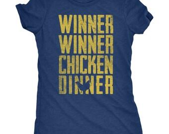 Winner Winner Chicken Dinner Women's Tri-Blend T-Shirt - Plus sizes available!