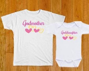 Godmother Goddaughter Matching Shirts - Godmother Goddaughter Baby Clothes - Goddaughter Gift - Godmother Gift - Godmother Goddaughter shirt