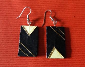 Boho Black Earrings