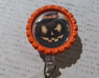Halloween Badge Reel | Badge Reel | Halloween Badge Holder | Badge Holder | ID Holder | Retractable Badge Holder | Pumpkin Badge Reel